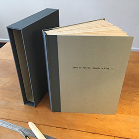 custom album to hold retirement party letters and photos
