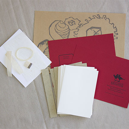 photo of case binding sampler materials